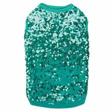 East Side Collection Sassy Sequin Dog Tank - Blue
