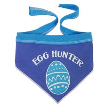 Easter Egg Hunter Dog Bandana - Blue/Periwinkle
