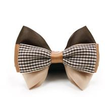 EasyBOW Gentleman Houndstooth Dog Collar Attachment by Dogo - Brown