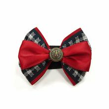 EasyBOW Gentleman Houndstooth Dog Collar Attachment by Dogo - Red