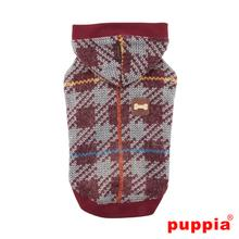Eldric Hooded Dog Shirt by Puppia - Mellange Wine