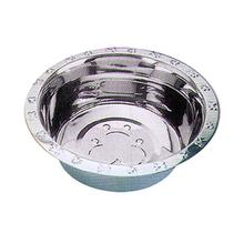 Embossed Rim Dog Bowl by QT Dog