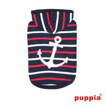 EOS Nautical Sleeveless Dog Hoodie by Puppia - Navy