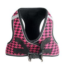 EZ Reflective Houndstooth Dog Harness Vest by Hip Doggie - Pink/Black