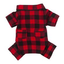 Fab Dog Buffalo Plaid Flannel Dog Pajamas