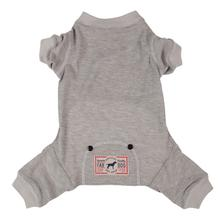 Fab Dog Thermal Dog Pajamas - Gray