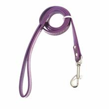 Faux Crocodile Dog Leash- Purple