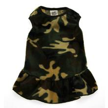 Faux Fur Camo Dog Dress