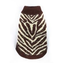 Feathersoft Zebra Dog Sweater by Hip Doggie