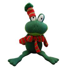 Festive Frog Dog Toy - Green