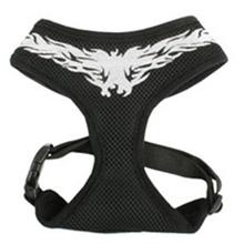 Flames Adjustable Dog Harness by Puppia - Black