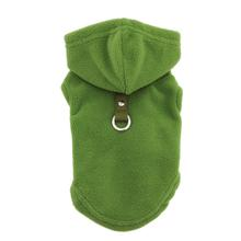 Fleece Vest Hoodie Dog Harness by Gooby - Green