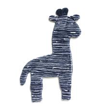 Floppy Giraffe Stuffing-Free Dog Toy - Navy Stripe