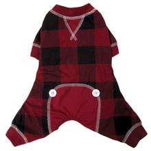 FouFou Buffalo Plaid Dog Pajamas - Red
