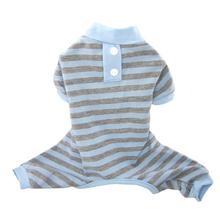 FouFou Classic Striped Dog Pajamas - Blue
