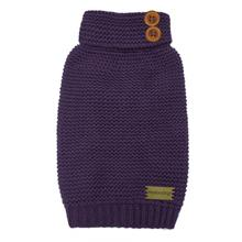 FouFou Crochet Dog Sweater - Purple