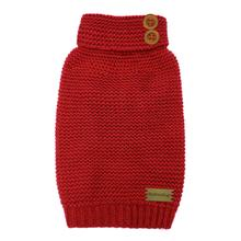 FouFou Crochet Dog Sweater - Red