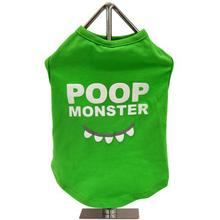 FouFou Slogan Dog Tank - Poop Monster