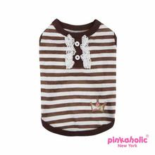 Frances Dog T-Shirt by Pinkaholic - Brown