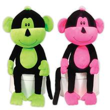 Frick n Frack Two Furrs Dog Toy - Neon Monkeys