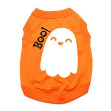 Friendly Boo Ghost Dog Shirt - Orange