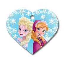 Frozen Heart Large Engraveable Pet I.D. Tag