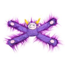 Furry Horned Monsterpulls Dog Toy by Doggles - Purple