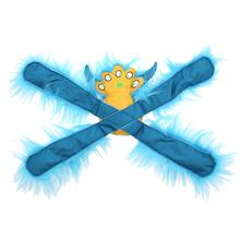 Furry Horned Monsterpulls Dog Toy by Doggles - Teal