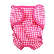 Gingham Dog Sanitary Pants by Puppe Love - Pink