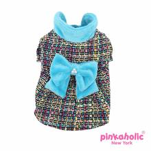 Glee Dog Dress Coat by Pinkaholic - Aqua