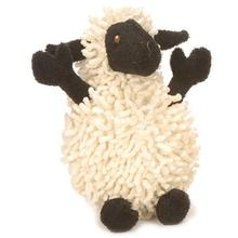 GoDog Fuzzy Wuzzy Sheep Dog Toy - Black