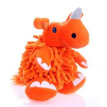 GoDog Mopz Dog Toy - Orange Rhino