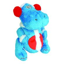 GoDog Holiday T-Rex Dog Toy - Blue