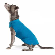 Gold Paw Fleece Dog Jacket - Marine Blue