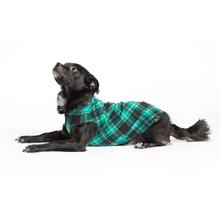 Gold Paw Fleece Dog Jacket - Wintergreen Plaid