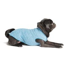 Gold Paw Sun Shield Dog Shirt - Heather Ocean Blue