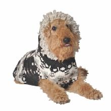 Gray Parka Hoodie Wool Dog Sweater