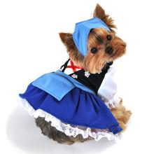 Gretchen Beer Maiden Dog Costume - Blue