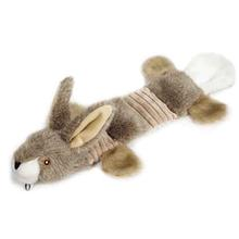 Grriggles Fuzzy Squeak Dog Toy - Rabbit