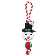 Grriggles Holiday Rope Tennis Tug Dog Toy - Snowman