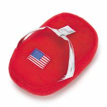 Grriggles Patriotic Pooch Flip-Flops Dog Toy - Red
