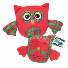 Grriggles Radiant Tartan Owl Dog Toy