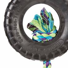 Grriggles Spare Tire Dog Toy - Black