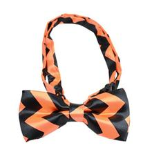 Halloween Chevron Dog Bow Tie