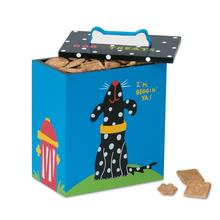 Hand Painted Dog Treat Box - Black & White