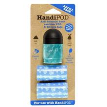 HandiPOD Dispenser with Poop Bags and Hand Sanitizer - Refill Kit in Black