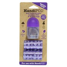 HandiPOD Dispenser with Poop Bags and Hand Sanitizer - Refill Kit in Purple