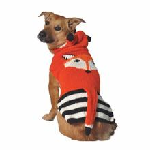 Handmade Foxy Hooded Wool Dog Sweater