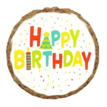 Happy Birthday Dog Treat Cookie - White