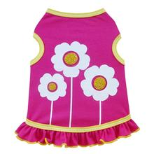 Happy Flowers Dog Dress - Hot Pink